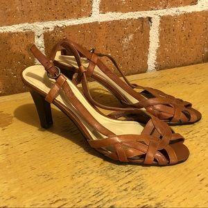 Worthington leather heeled sandals size 8M